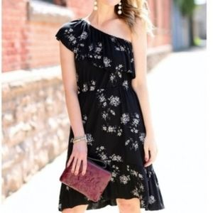 LUCKY BRAND One Shoulder Floral Ruffle Dress